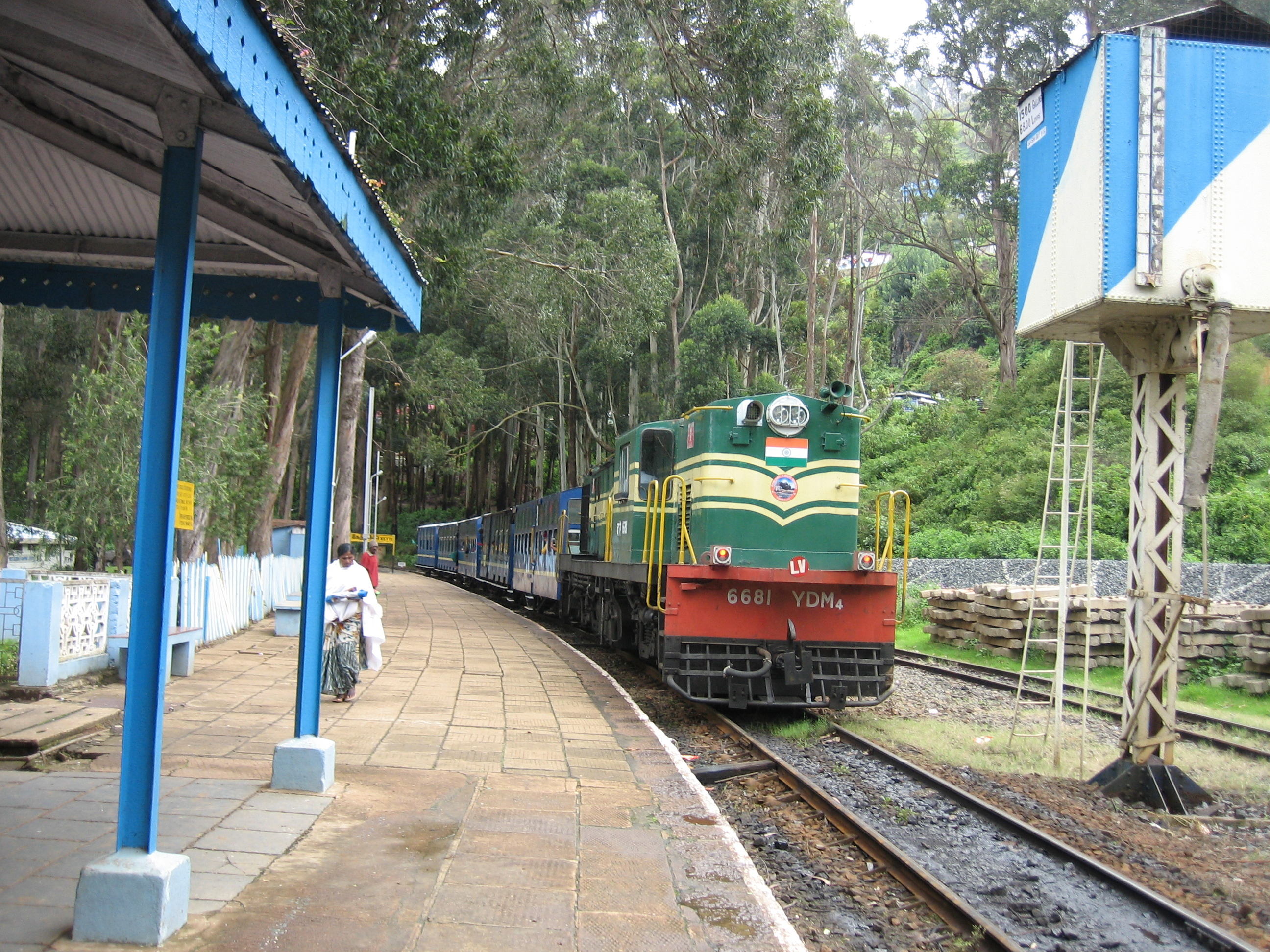 The Nigiris Mountain Railway, also known as the toy train, built in 1908 is a 46 kilometer trip through the Nilgiris hills