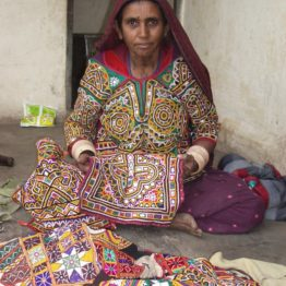 Master embroiderer Puriben of SEWA helped start a village-based embroidery company that has drawn families out of poverty.