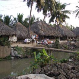 Village where lace artisans work.