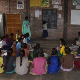 Girl child labourers attend a special 10-month school that prepares them to enter the regular system.