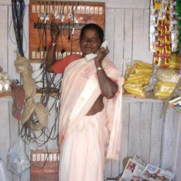 In the village of Cherlapatelguda, Laxshmamma took a loan to open a village phone service.