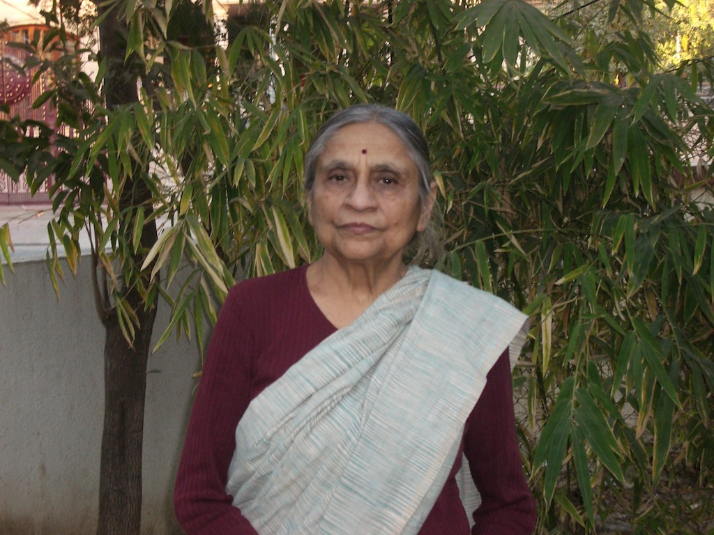 Ela Bhatt at home